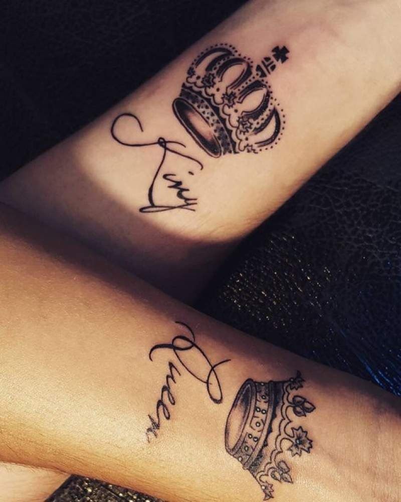 crown tattoos couples